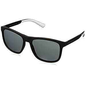 Armani Exchange Men's Injected Man Square Sunglasses, Matte Black, 57 mm