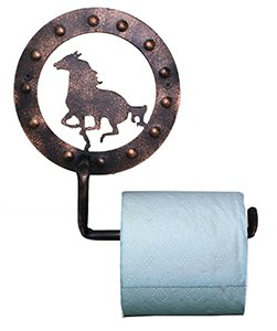 A&A Decor Horse Toilet Paper Holder in Copper Finish