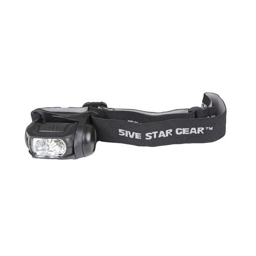 5ive Star Gear Multi-Function Headlamp with Strobe, Black by 5ive Star Gear