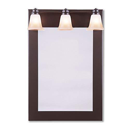 (Bathroom Mirror Lake Cabin Unique Handmade in USA | Sienna Mirror - Rustic Plain | A38901TT-28 | Avalanche Ranch Lighting)