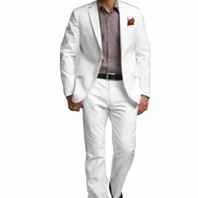 CLASSIC con dos de hombre de piel de con traje blanco. CON ...