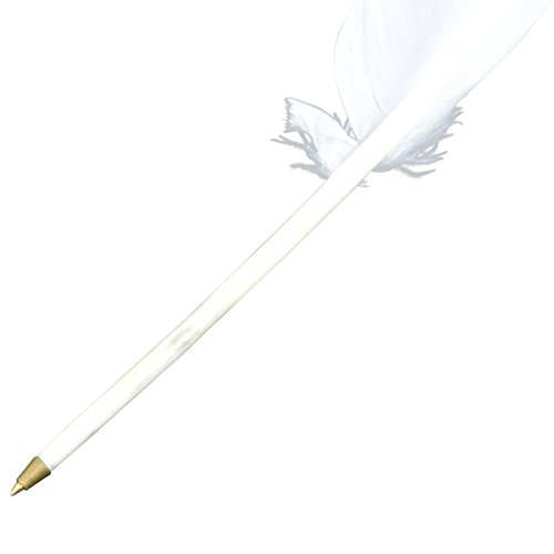 Vintage Style White Goose Quill Writing Pen from Unknown