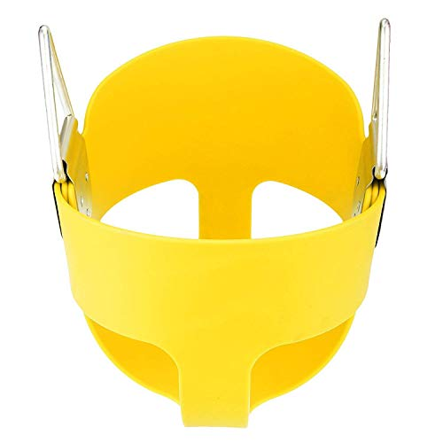E EVERKING Swing Seat Heavy Duty High Back Full Bucket Toddler Swing Seat Set Accessories for Backyard,Outdoor Kids Swing Chair (Yellow)