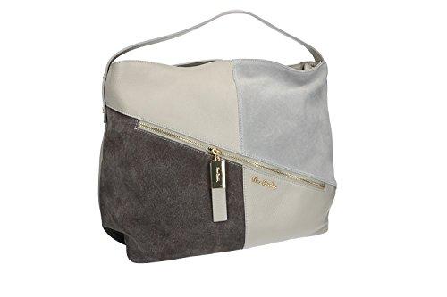 Tasche damen von Hand PIERRE CARDIN grau leder Made in Italy VN1078
