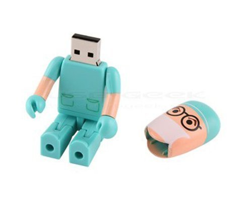 32GB Fold USB 2.0 Flash Memory Stick Pen Drive Thumb Disk Green - 7