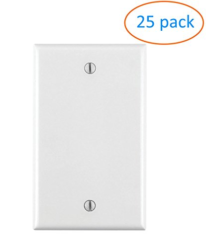 White Rj11 Wall Plate (Kenuco Blank Wall Plate - White, Pack of 25)