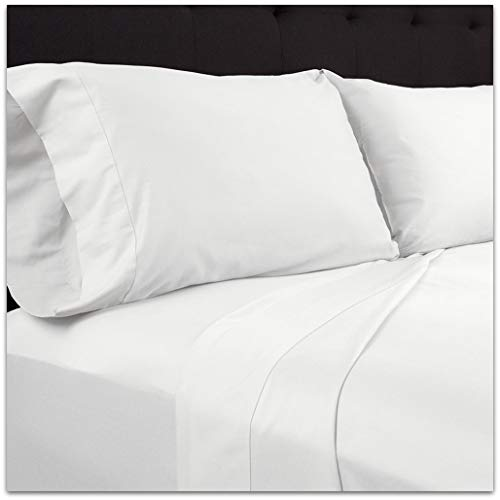 Plushy Comfort Heavy Discounted Queen Pillow Case (20 x 30 Inch) - 2 Piece in 100 Percent Egyptian Cotton White Solid