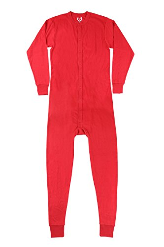 North 15 Mens Waffle Red Union Suit Underwear X - Suit Men Express For