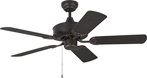 Monte Carlo 5HVO44BZ Haven 44″ Outdoor Ceiling Fan with Pull Chain, 5 ABS Blades, Bronze – no Light