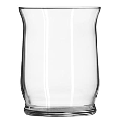 Libbey Adorn Hurricane Vase/Candleholder, 4.4-Inch Tall, Clear, Set of 6