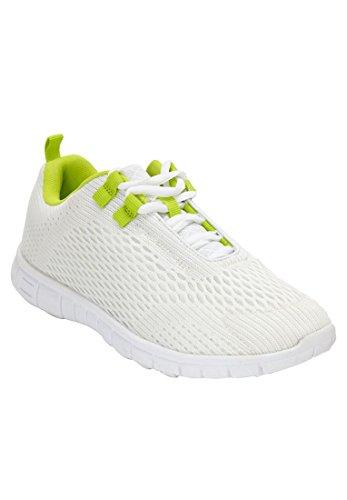 Prute Katalog Utløp Comfort Plus Size Eddie Sneaker Hvit Frisk Lime