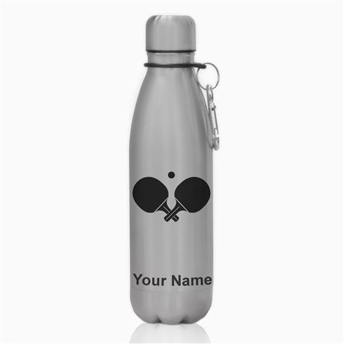 Water Bottle - Ping Pong Paddles - Personalized Engraving Included by SkunkWerkz