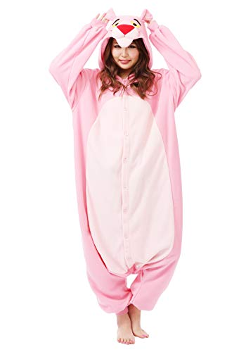 SAZAC Kigurumi - Pink Panther - Onesie Halloween Costume - Adult One Size Fits All -