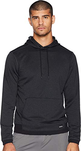 Hurley Men's Nike Dri-Fit Disperse Fleece Hoodie, Black//Anthracite, -