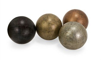 imax-5550-4-metallic-finish-5-inch-globe-spheres-with-map-set-of-4