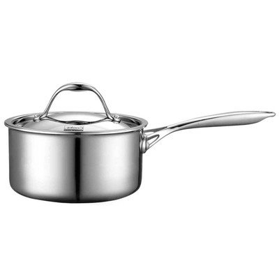 Multi-Ply Clad Stainless-Steel Covered Sauce Pan Size: 1.5-qt.