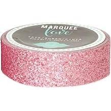 Bulk Buy: Heidi Swapp (2-Pack) Heidi Swapp Marquee Love Washi Tape .875in. Pale Pink Glitter, 10' HSMARW-69796