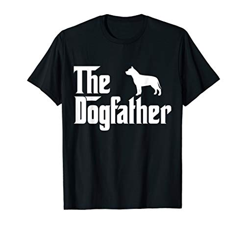 (The Dogfather Pit bull T-Shirt Funny Father Dog Lover Gift)