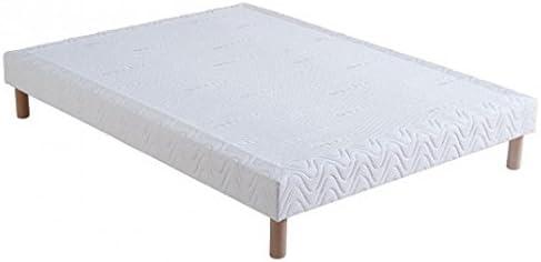 Somier tapizado (160 x 200 x 15 cm, con 4 patas)