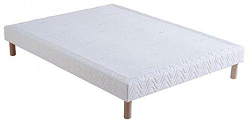 Sommier tapissier 160x200x15cm + 4 pieds