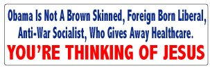 Bumper Sticker for Cars, Trucks - Obama is Not A Brown Skinned, Foreign Born Liberal, Anti-War Socialist, Etc - Professional Vinyl Decal | Made in USA - 3