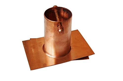 (U-nitt 2-Piece Gutter Installer/Adapter for Rain Chain Pure Copper: #975 )