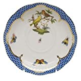 Herend Rothschild Bird Blue Tea Saucer Motif #6