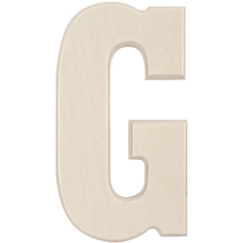 MPI Baltic Birch University Font Letters and Numbers, 5-Inch, Letter (Letter G Crafts)