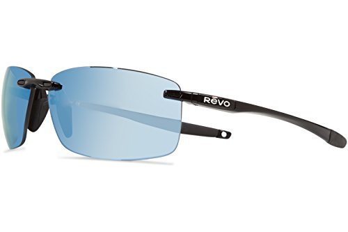 Revo Descend N RE 4059 01 BL Polarized Rectangular Sunglasses, Black, 64 - N Descend Sunglasses Revo