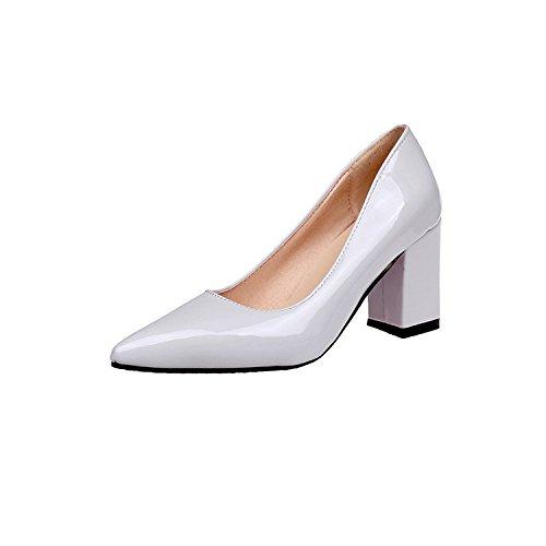 la de negrita de mujer temporadas Blanco la de 46 la metros punta boquilla luz zapatos Shoes alta 33 zapata Sugerencia áspero Heel con qwvUU1