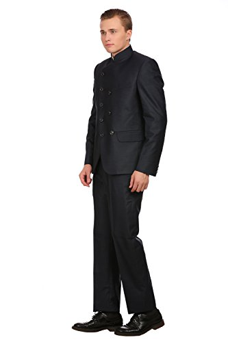 Wintage Hommes PV Merino BlendGrandad Collier Festive BlackDouble Breasted Suit