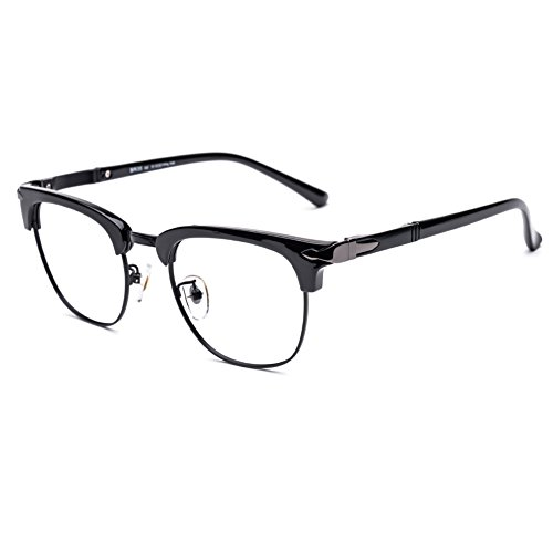 DONNA Popular Transparent Glasses Frames Non Prescription Spectacles Unbreakable DN35(Glossy - Big Eyeglasses Head