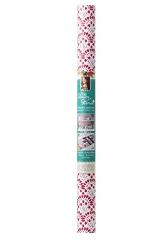 The Pionner Woman 20 In. x 12 Ft. Printed Adhesive Laminate Shelf Liner, Betsy Red