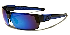 Half Frame Rimless Men's Wrap Around Sport Sunglasses
