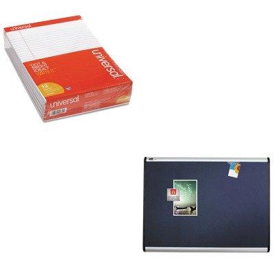 KITQRTMB547AUNV20630 - Value Kit - Quartet Prestige Plus Magnetic Fabric Bulletin Board (QRTMB547A) and Universal Perforated Edge Writing Pad (UNV20630) by Quartet