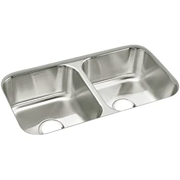sterling 11444 na mcallister 32 inch by 18 inch under mount double equal bowl kitchen sink stainless steel - Bowl Kitchen Sink