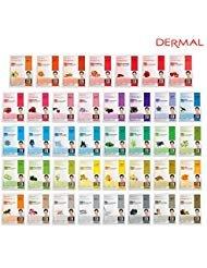 Essence Face Mask - DERMAL Collagen Essence Full Face Facial Mask Sheet (39 Combo Pack)