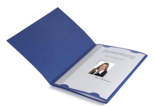 15 Dreiteilige Bewerbungsmappen Blau In Feinster Lederstruktur