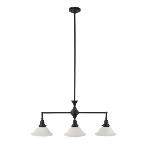 Royce Lighting RP21869ORB Essex 3-Light Metal Billiard Pendant with Opal Etched Globes, Oil Rubbed Bronze - smallkitchenideas.us