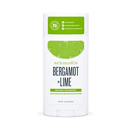Schmidt's Deodorant Stick, Bergamot + Lime, 3.25 -