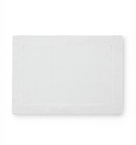 Sferra Festival Linen Hemstitched Placemats - White from Sferra