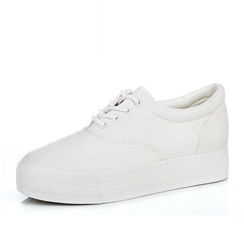 De Avec Printemps taille Toile A Des Semelles chaussures Croissante Femme Épaisses casual Chaussures infirmière Blanc Chaussures fxdISvf