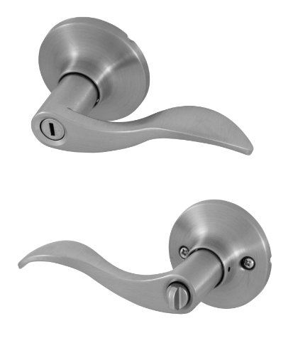Honeywell Safes & Door Locks 8106302 Honeywell Locking Door Lever Satin Nickel