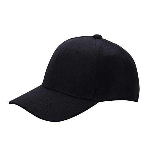 SINXE Men Women Plain Baseball Cap Unisex Curved Visor Hat Hip-Hop Adjustable Peaked Hat Visor Caps Solid]()