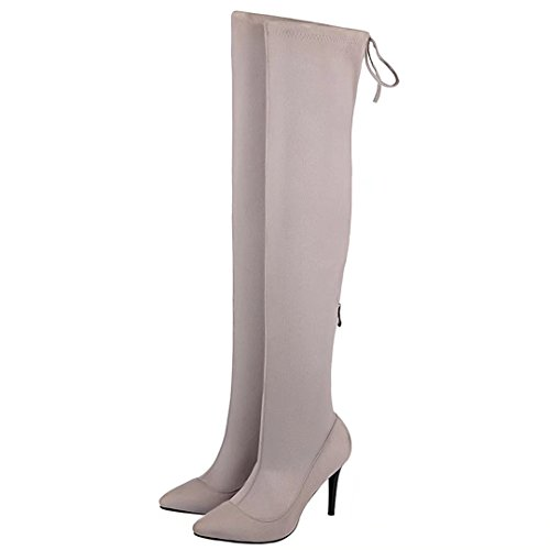 AIYOUMEI Women's Classic Boot Grey YjpS6DtVx6
