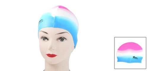 Amazon.com : eDealMax de silicona Suave elástico se divierte el casquillo a prueba de agua Sombrero Piscina Blanco Rojo Para Adultos : Sports & Outdoors
