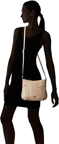 GERRY WEBER Rosas Shoulder Bag V, M Schultertaschen Grau (Taupe 104)