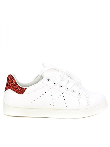 Femme Red Shoes Blanche Cendriyon Chaussures It's Basket ADANA 6vgqX0w1