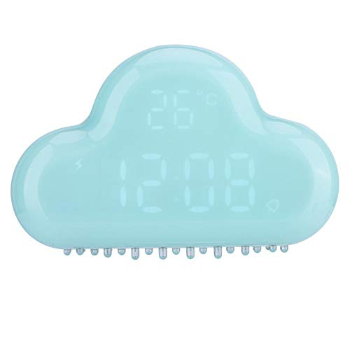 V BESTLIFE Cloud Alarm Clocks, Cloud-Shaped Magnetic Clock Alarm, Multi-Functional Clock with Strong Magnet, Shows LED Time/Date/Temperature/Alarm/Snooze (Blue)