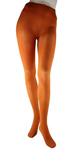 Foot Traffic Opaque Microfiber Tights, Cute & Cozy, Rust (Large/Tall)